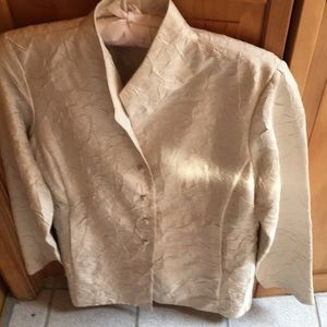 Eileen Fisher crushed silk jacket